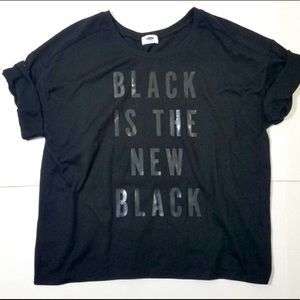 BLACK Is The New Black boxy tee L